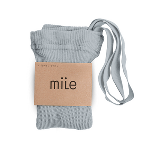 MILE SK tights with braces light grey - Pulu