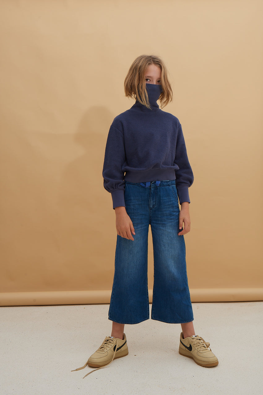 LONG LIVE THE QUEEN denim trousers blue denim
