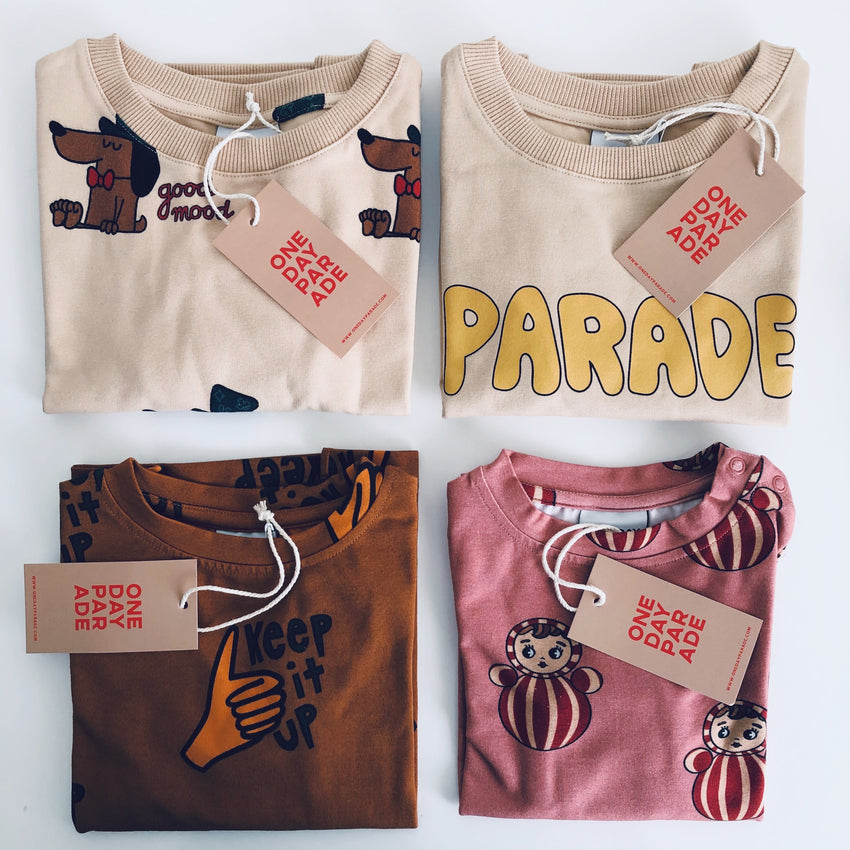 ONE DAY PARADE sweater good mood sand