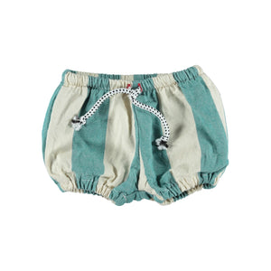 PIUPIUCHICK baby shorties emerald stripes - Pulu