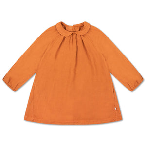 REPOSE AMS round collar dress warm hazel
