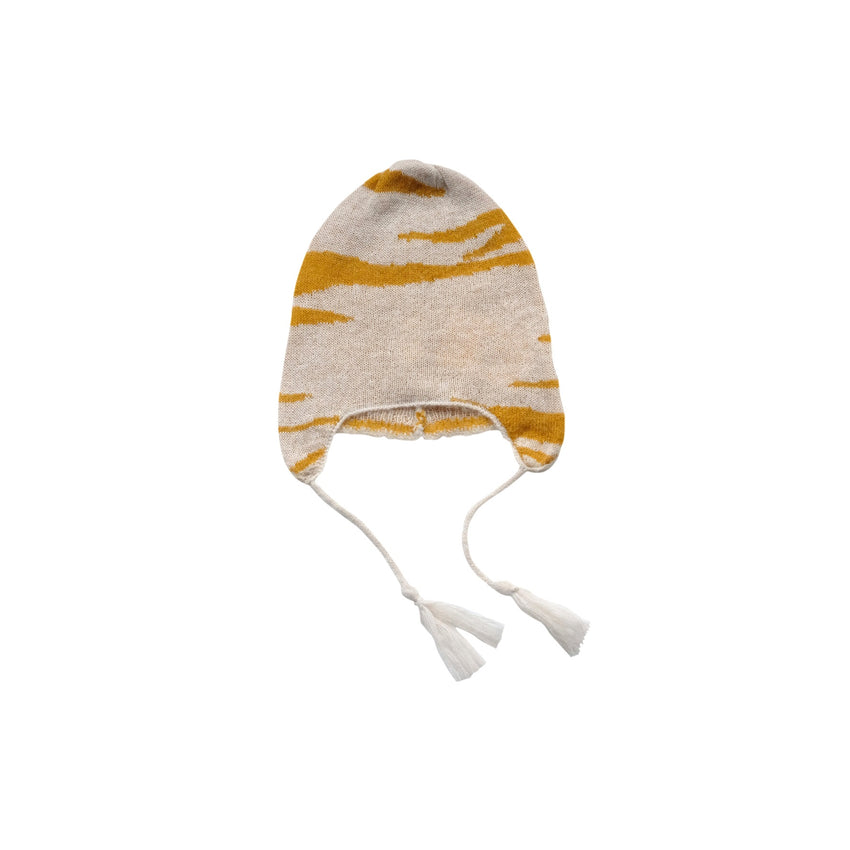 MAED FOR MINI tipsy tiger knit hat - Pulu