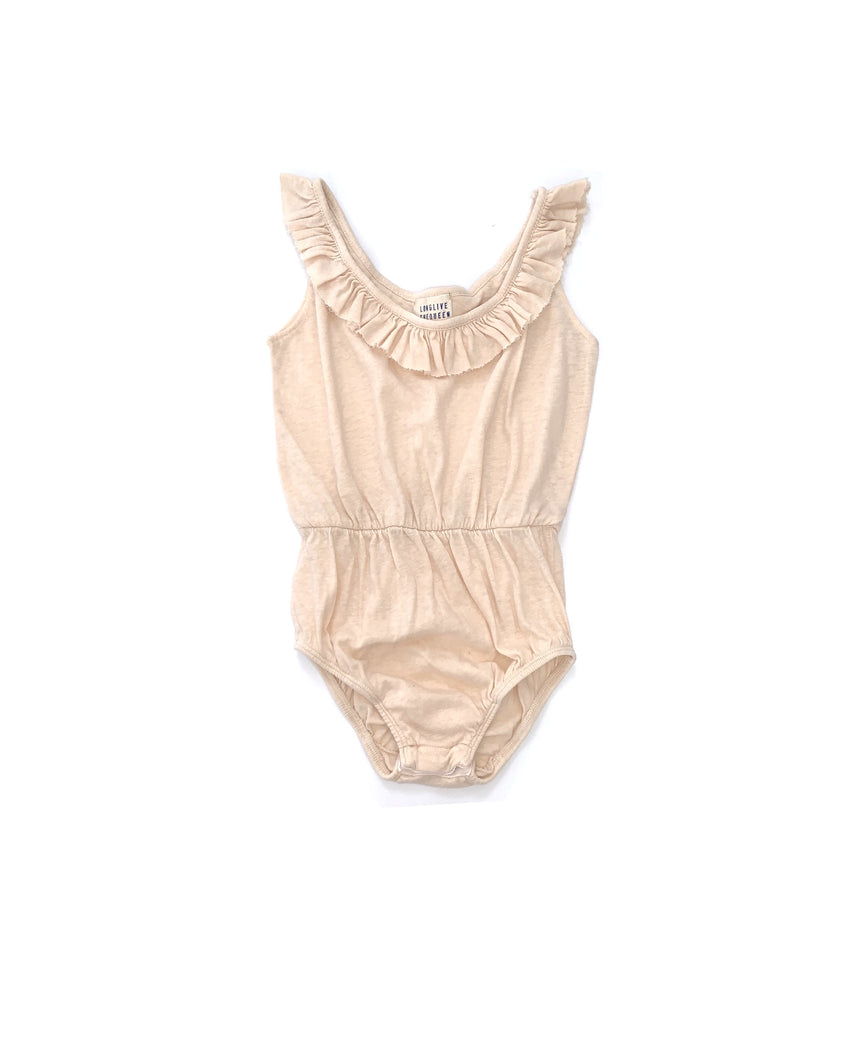 LONG LIVE THE QUEEN ruffle body natural
