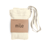 MILE SK tights with braces creamy - Pulu