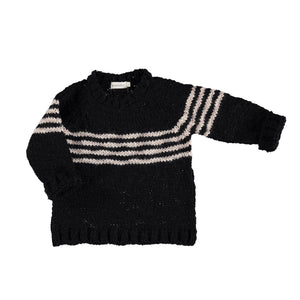PIUPIUCHICK knitted sweater black/ecru - Pulu