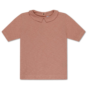 REPOSE AMS t-shirt with collar powder creme - Pulu