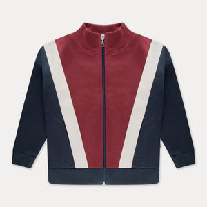 REPOSE AMS track jacket weathered berry color block - Pulu