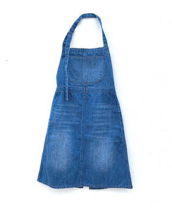 LONG LIVE THE QUEEN denim apron dress - Pulu