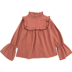 LONG LIVE THE QUEEN ruffle blouse copper - Pulu