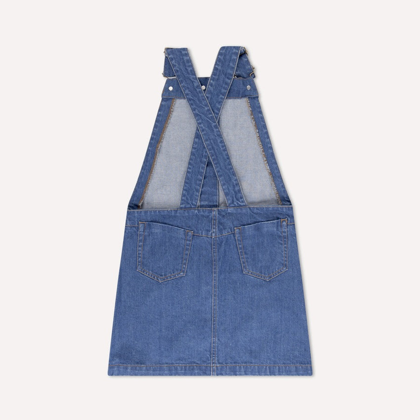 REPOSE AMS dungaree dress denim blue - Pulu