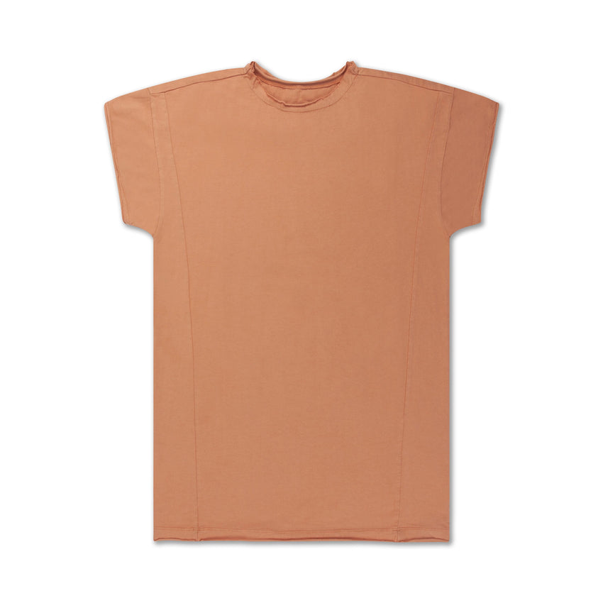 REPOSE AMS t-shirt dress butterscotch - Pulu