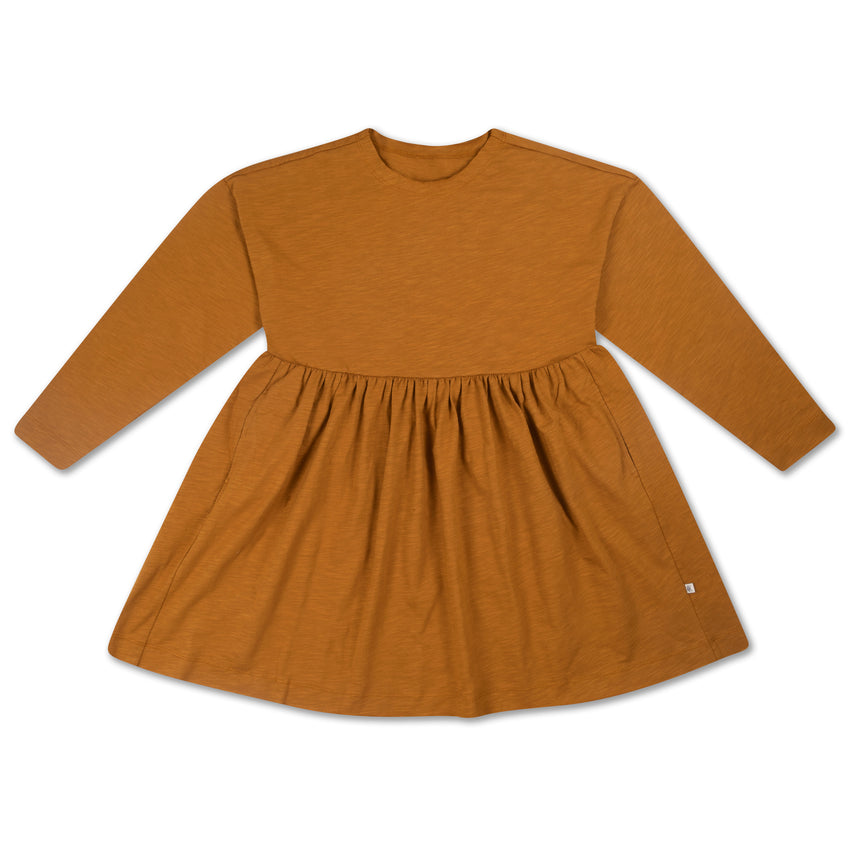 REPOSE AMS simple dress khaki brown