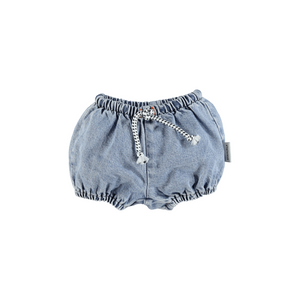 PIUPIUCHICK baby shorties wash light blue denim