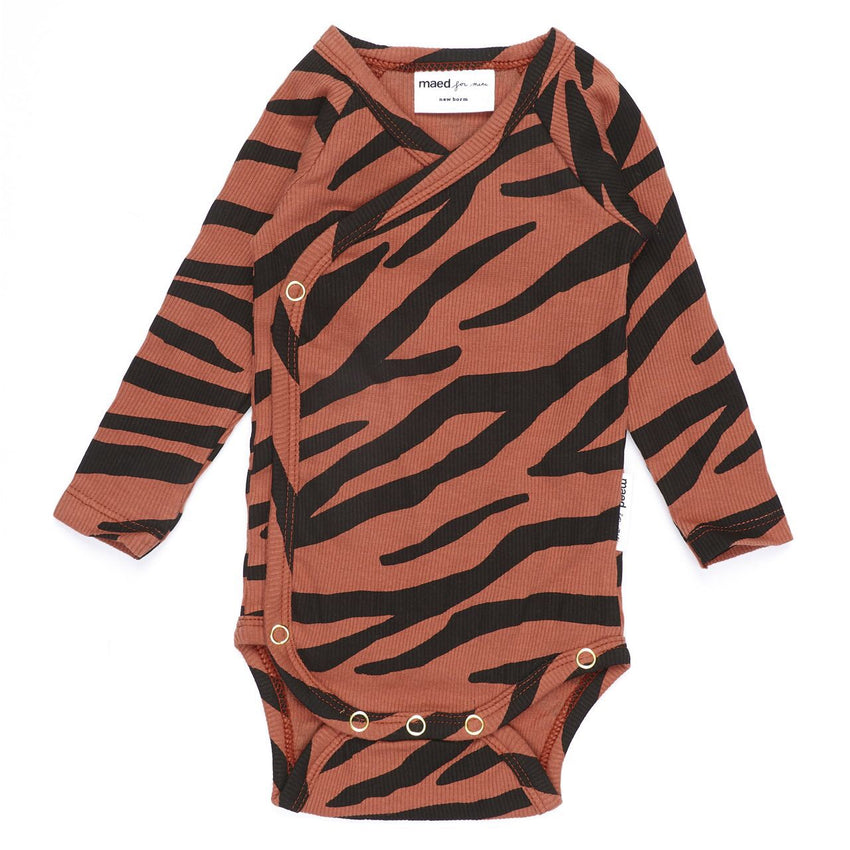 MAED FOR MINI blushing zebra romper - Pulu