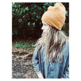 REPOSE AMS knitted hat warm yellow