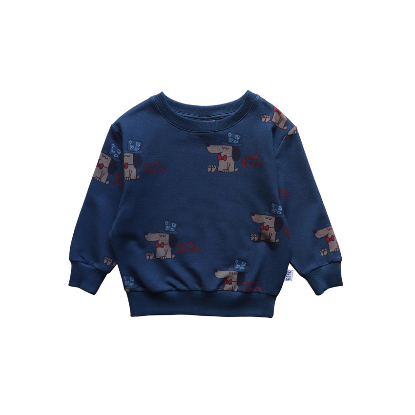ONE DAY PARADE sweater good mood blue