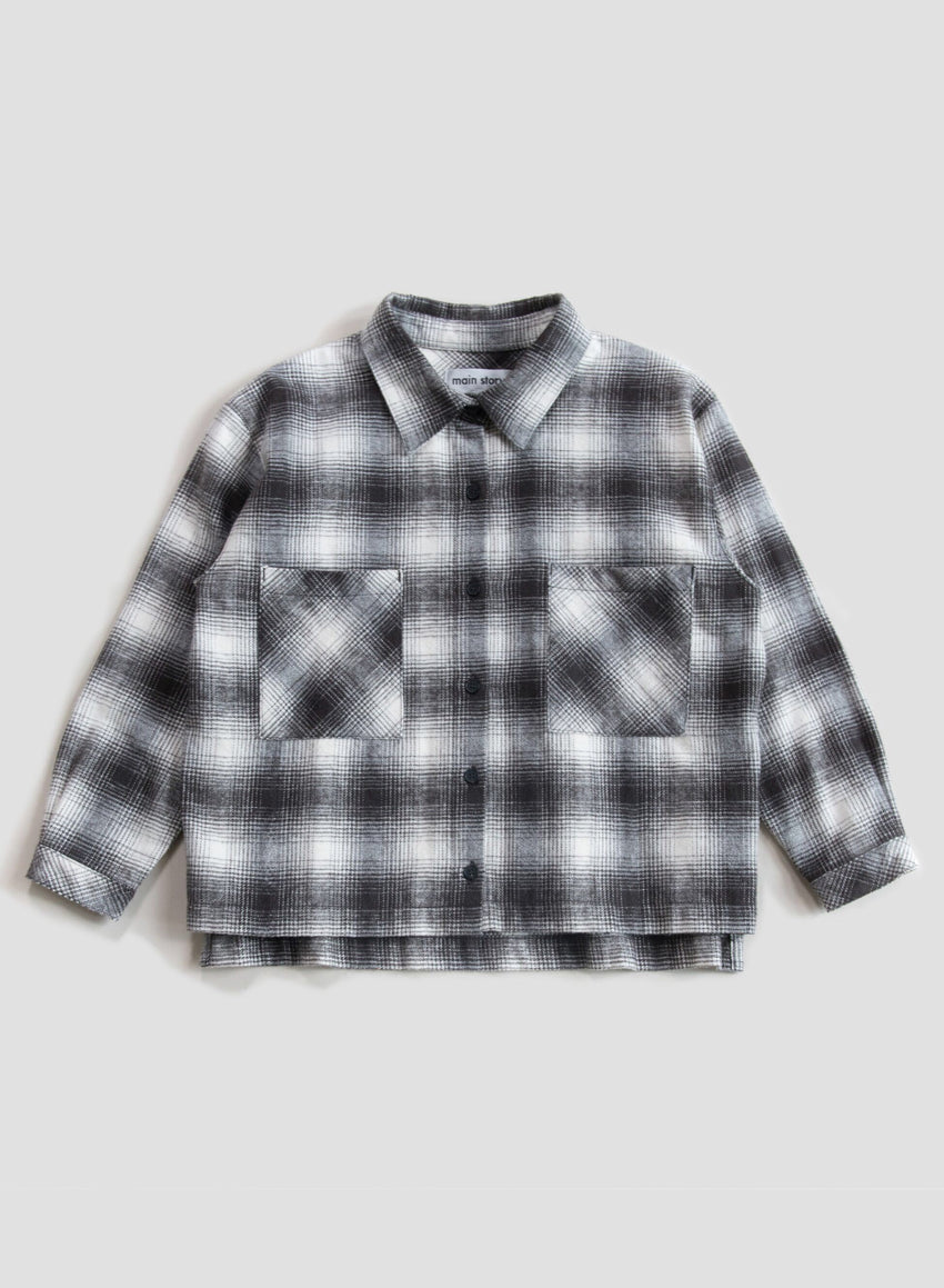 MAIN STORY wide shirt check - Pulu