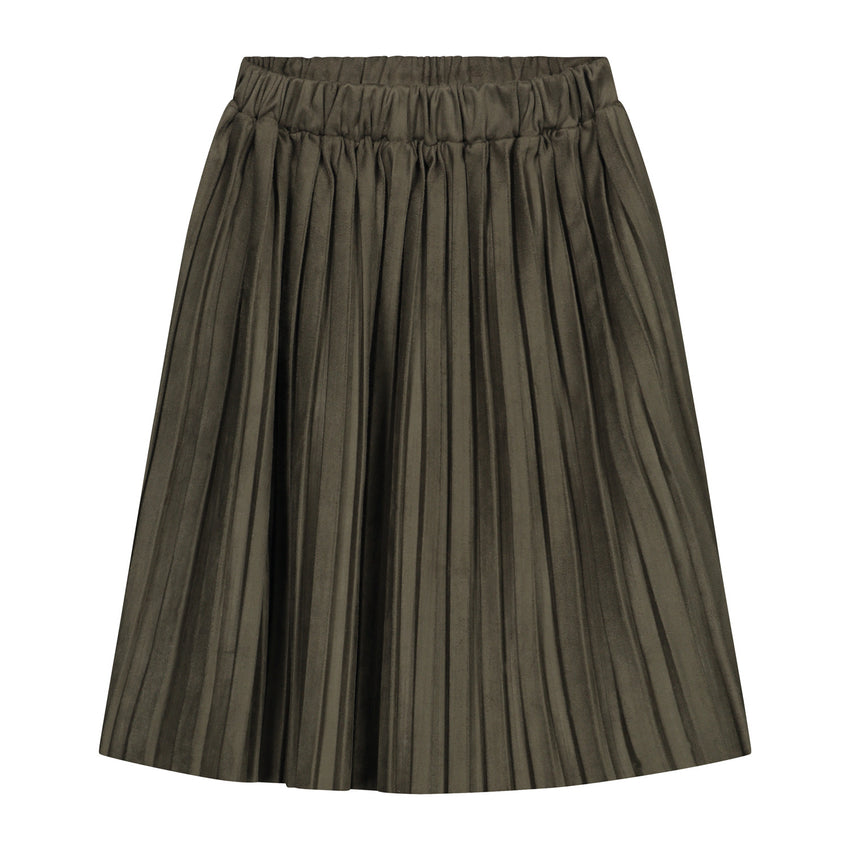 DAILY BRAT donna plisse skirt dark olive