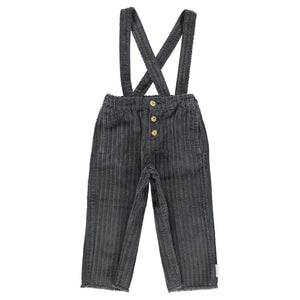 PIUPIUCHICK trousers with straps anthracite corduroy - Pulu