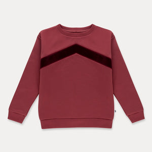 REPOSE AMS track sweater weathered berry - Pulu