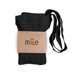 MILE SK tights with braces black - Pulu