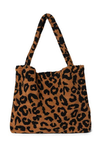 STUDIO NOOS teddy leopard brown mom-bag