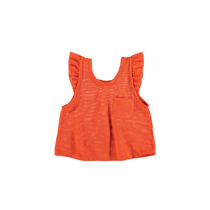 PIUPIUCHICK sleeveless t-shirt red - Pulu