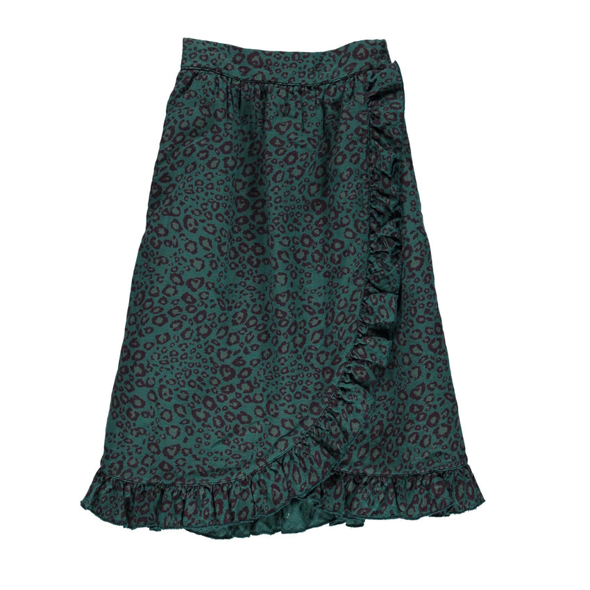 PIUPIUCHICK skirt emerald animal print - Pulu