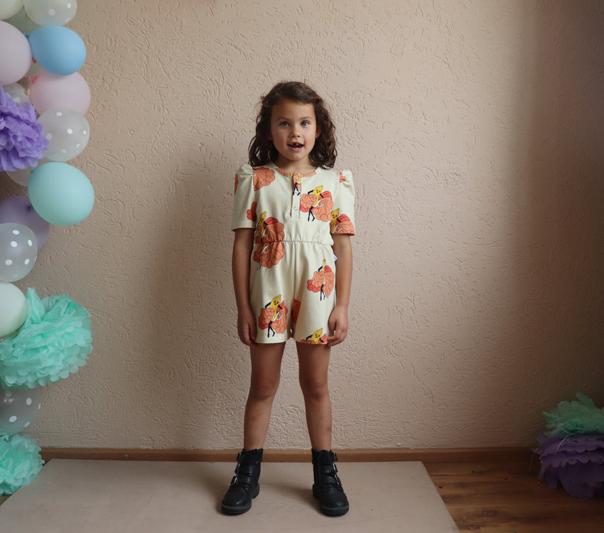 ONE DAY PARADE puffed playsuit banana