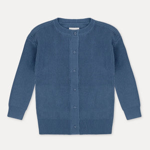 REPOSE AMS knit cardigan aged blue - Pulu