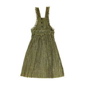 PIUPIUCHICK long dress with frills golden - Pulu