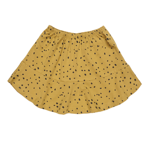MAED FOR MINI ochre ocelot short skirt - Pulu