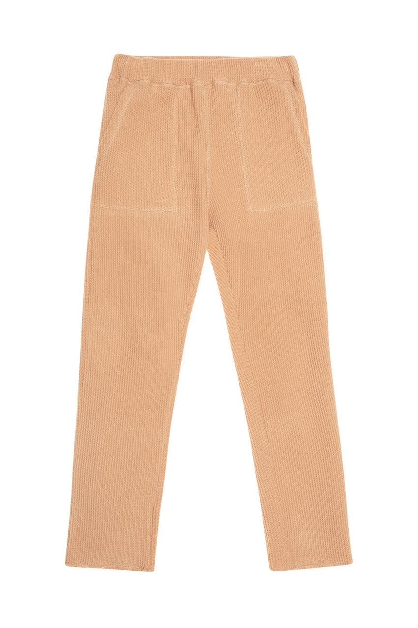 THE NEW SOCIETY waffle jogging pants camel - Pulu