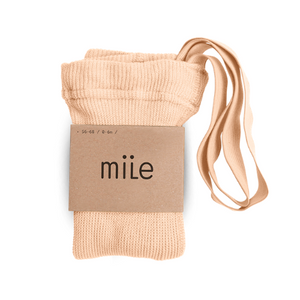 MILE SK tights with braces peach - Pulu