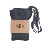 MILE SK tights with braces steel blue - Pulu