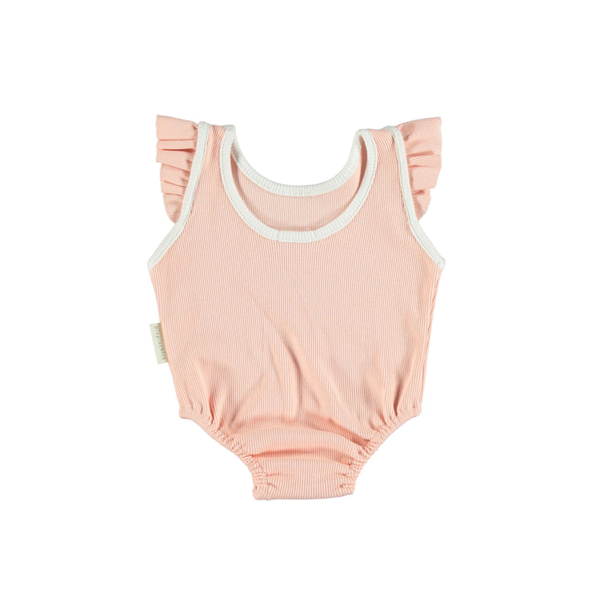 PIUPIUCHICK ribbed sleeveless body salmon - Pulu