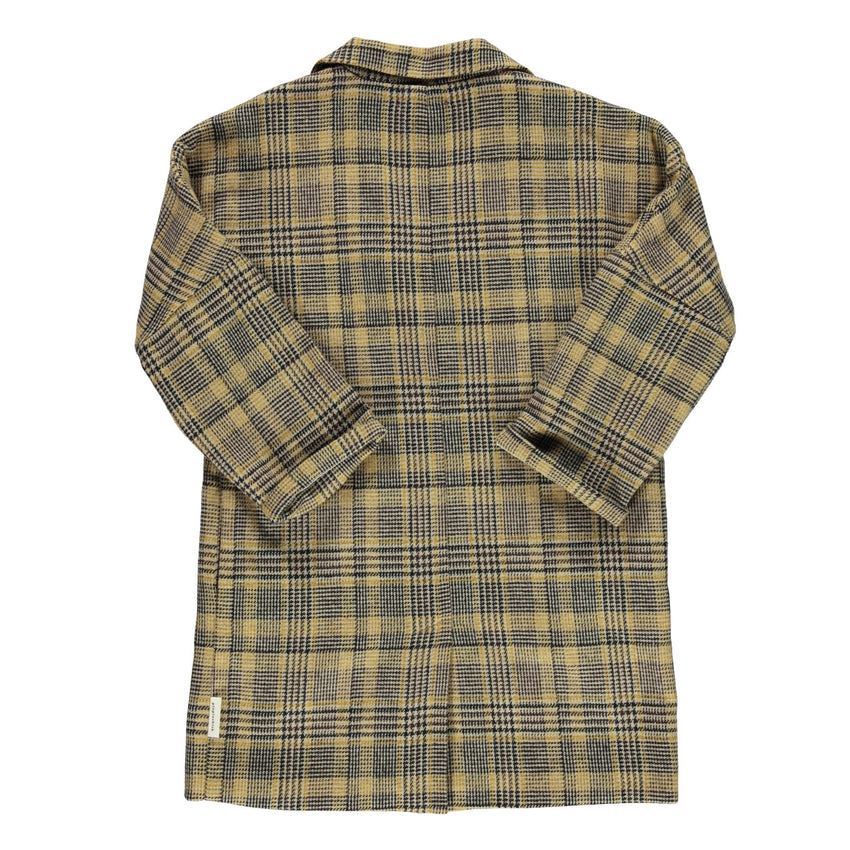 PIUPIUCHICK tweed overcoat light brown plaid