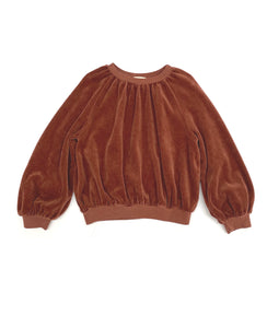 LONG LIVE THE QUEEN velvet sweater rootbeer