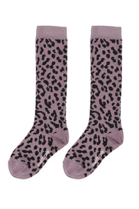 MAED FOR MINI lilac leopard knee socks - Pulu