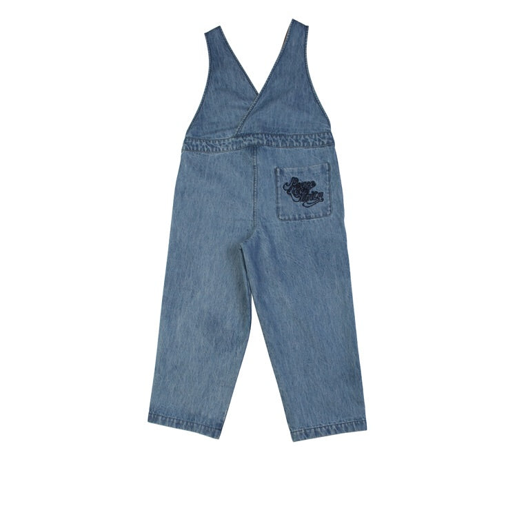 WYNKEN dance dungaree bleached denim - Pulu