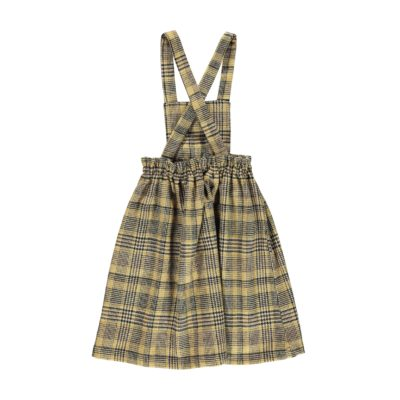 PIUPIUCHICK tweed dress light brown plaid - Pulu
