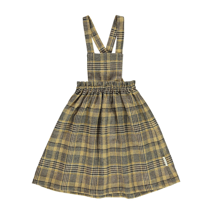 PIUPIUCHICK tweed dress light brown plaid