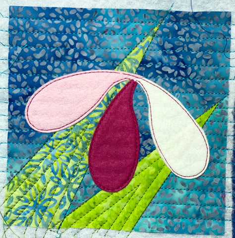 Stitch around applique