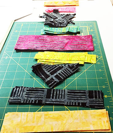 Setting up your fabrics for paper piecing