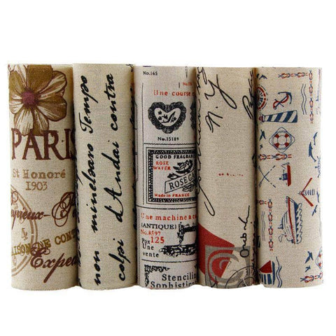 Fabric Premiums - French Patchwork - 5 Piece Bundle-Sewing By Sarah