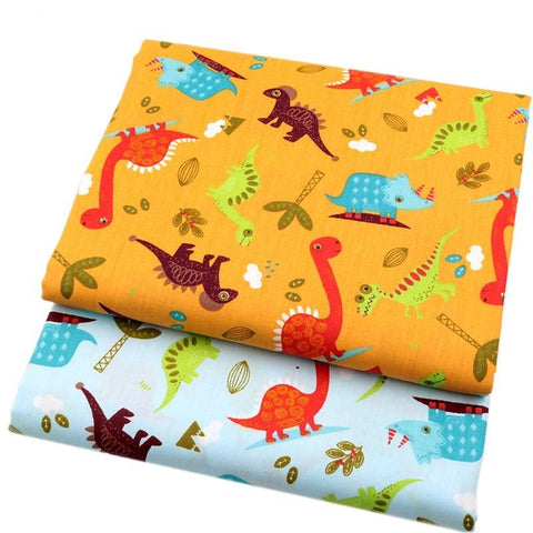 "Fabric Premium-2 Pieces Dinosaur ""Skinny Quarters""-Sewing By Sarah"