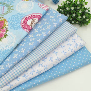 "Fabric Premium- 5 Pieces Pale Blue ""Skinny Quarters""-Sewing By Sarah"
