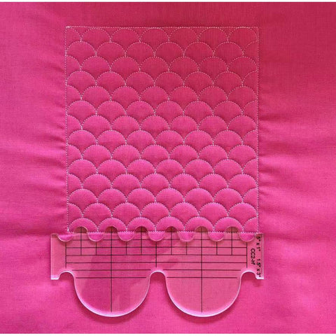 Free Motion Template Set - 6 Piece (With Ruler Foot)-Sewing By Sarah