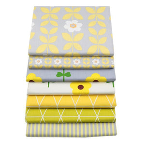 Fabric Premium- 7 Pieces Yellow Flowers