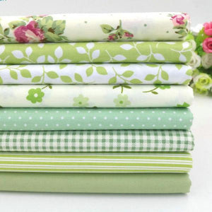 "Fabric Premium- 8 Pieces Pastel Floral ""Skinny Quarters"""